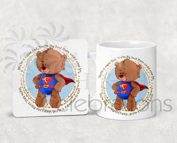 You're A Super Dad Father's Day Coaster